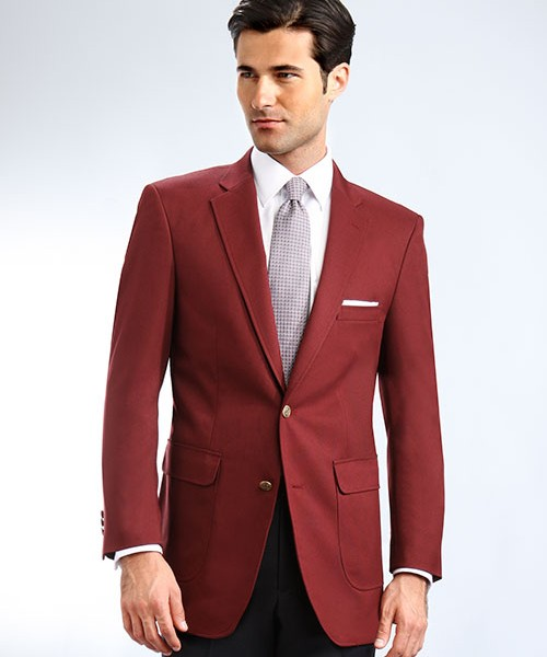 Burgundy Mens Blazer
