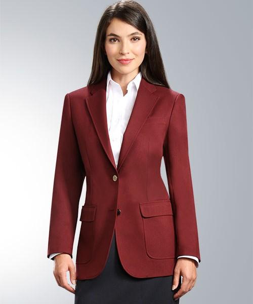 maxwell park burgundy maroon women's blazer