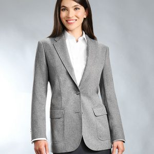 Gray Womens Uniform Blazer