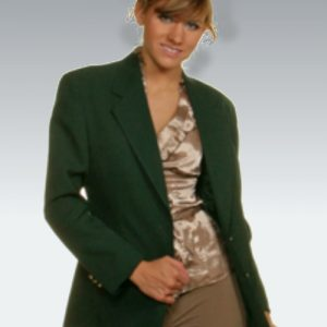 Hunter Green Womens Blazer