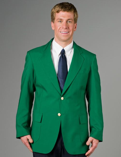 Kelly green suit jacket